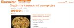 cuisiner les courgettes et le saumon