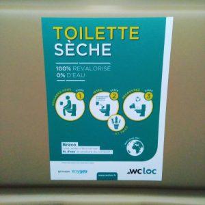 Marathon engagé, toilette sèche